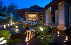 Anantara Spa Pond, Anantara Si Kao Resort & Spa, Chang Lang Beach, Trang, Thailand.