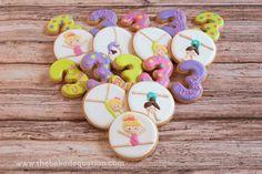 Birthday Sugar Cookies for Girls | The Baked Equation #gymnastics #gymnast…