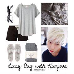 BTS RapMon/Namjoon Lazy day outfit