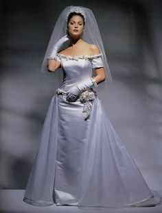 Dress by Tatiana of Boston from Wedding Dresses Magazine 1995