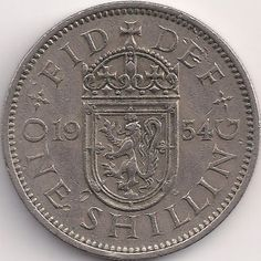 Motivseite: Münze-Europa-Westeuropa-Vereinigtes Königreich-<1971-Shilling-1-1954-1970-scottish