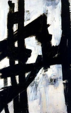Franz Kline: New York (1953). You can see steel, girders and a bridge here.