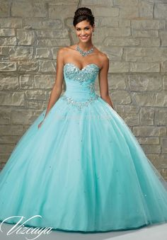 Incredible Beautiful Crystals Ruched Bodice Turquoise Quinceanera Dresses 2015 Tulle Princess Ball Gown vestido debutante