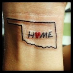 Oklahome tattoo- I actually like this idea