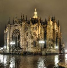 Duomo at night, Milan