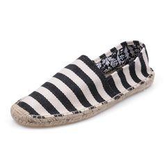 Womens Zebra Stripes Flax Outsole Black Toms Shoes
