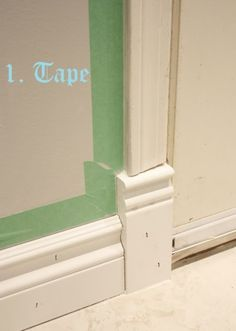 Baseboard molding baseboards and moldings on pinterest - Exterior trim painting tips image ...