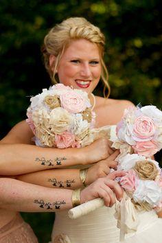 Shabby chic romantic rustic wedding bouquet by CraftyFrills, $450.00