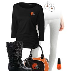 Get fashion chic and show some love for the San Diego Chargers with some sleek leggings, a team dolman top and accessories, and some trendy buckle boots. Steelers Gear, Steelers Stuff, Oakland Raiders Fans, Raiders Baby, Brown Leggings, San Diego Chargers, Cleveland Browns, Favim, Legging Outfits