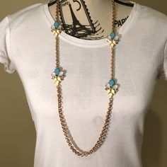 Sale Blue, Yellow & Gold Necklace