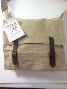 cee3e95ff5 Details about Rothco Vintage Style Canvas Medic Bag Crossbody Messenger  Khaki