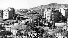 Fotos de Barcelona en los años 50 | Albert Ribera - Intentando ver el árbol y el bosque Paris Skyline, Spain, Street View, City, Travel, Google, Walks, Old Pictures, Woods
