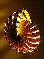 Nautilus - hanging lamp shade (in situ night) - Designer Rebecca Asquith