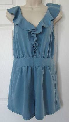 New Blue 1 Piece Short Set Size 6 Romper Jumpsuit Graduation Wedding Dressy NWOT FREE SHIPPING!