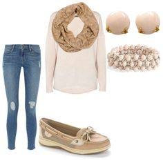 winter Sperry outfit by chuchuluvtwix on Polyvore featuring polyvore fashion style 360 Sweater Frame Denim Sperry Top-Sider Henry Dunay Monsoon Missoni