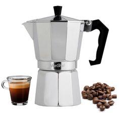 6 Cup Italian Cuban Espresso Coffee Maker Stove Top Latte Moka  Cafetera Cubana #VonShef