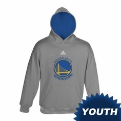 GOLDEN STATE WARRIORS ADIDAS YOUTH PRIMARY LOGO PULLOVER HOODY - GREY