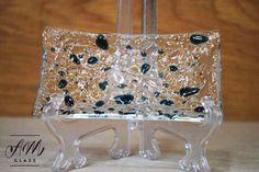 Fused Glass Trinket/Soap dish by AMGlassStudio on Etsy