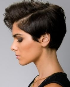 Short with long top.
