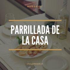 PARRILLADA DE LA CASA   Gemischter Fisch und Meeresfrüchte sehr beliebt bei unseren Gästen