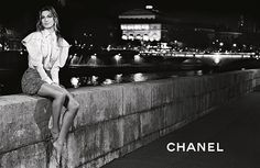 Gisele Bundchen - (black and white) Chanel S/S 2015 campaign for Karl Lagerfeld in Paris, 2015 (10)