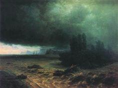Ivan Aivazovsky~Downpour in Sudak 1897
