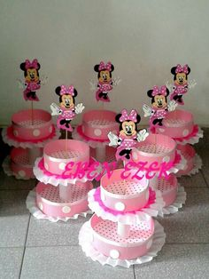 Party Minnie Mouse Birthday Decorations, Mickey Mouse Clubhouse Birthday, Minnie Birthday, Baby Girl Birthday, Minnie Mouse Party, Mouse Parties, Birthday Parties, Mini Mouse Baby Shower, Cake And Cupcake Stand