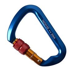 Rock Climbing Screwgate Locking Carabiner 20 Pack AYAMAYA High Strength 30KN3000Kg D Shape Aluminum Rocklock Screw Gate Twist Lock Climbing DShaped Rescue Carabiner Clip for Rappelling Belaying * Details can be found by clicking on the image. This is an Amazon Affiliate links.