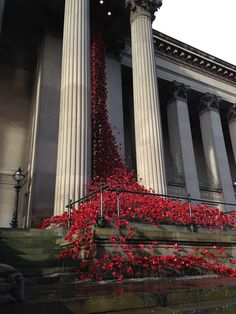 January 2016 saw the installation 'Weeping Window' created from ceramic poppies, at St Georges Hall in Liverpool