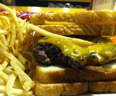 Grilled Cheeseburger at Instant Karma Gourmet Hotdogs in Joplin, MO.