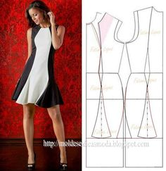 .Panel front insert A-line with godets to add fullness to skirt.