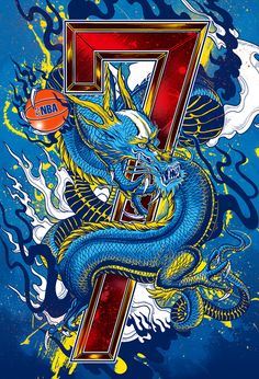 Jeremy Lin Dragon Art