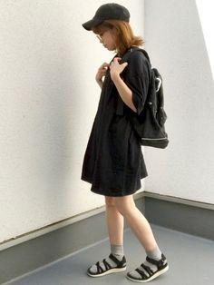 くろコ☻ 夏やというのに最近ブラックばっかり 着てしまってます(´・ω・`;) インスタ→→maar