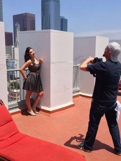 Downtown Los Angeles Photo Shoot #makeupartist #gettingready #pinup #efelixstudios #eileenfelix #downtownshoot #downtown #makeup #art #photos #JohnnyGramercy #rooftop #downtownLAroof #skyline #heels #sunlight #heartjewelery