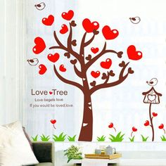 Bigbvg Easy Instant Home Decor Wall Sticker Decal - Love Tree Lany, Playing Cards, Home Decor, Decoration Home, Room Decor, Playing Card Games, Home Interior Design, Game Cards, Home Decoration