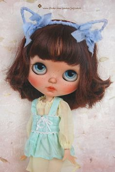 Jiajia Doll Silk Meow mint green vest fit jerryberry or pullip or Azone or…