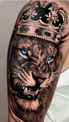 Lion Forearm Tattoos, Lion Head Tattoos, Upper Arm Tattoos, Lion Tattoo, Body Art Tattoos, Sleeve Tattoos, Tatoos, Tattoos For Daughters, Animal Tattoos
