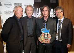 Jackson Browne and J.D. Souther Photos - Ken Paulson, J.D. Souther, Jackson Browne, and Jed Hilly pose backstage at the 13th annual Americana Music Association Honors and Awards Show at the Ryman Auditorium on September 17, 2014 in Nashville, Tennessee. - Americana Music Festival Show