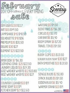 February 2016 Sale msheather.scentsy.us or email me Holli.gilbert87@yahoo.com #scentsy #wickless