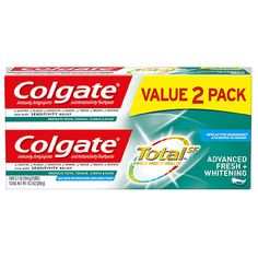Colgate Total Advanced Whitening Paste Toothpaste - Each Shampoo For Dry Scalp, Shampoo Bar, Baby Shampoo, Colgate Toothpaste, Baking Soda And Lemon, Baking Soda Shampoo, How To Prevent Cavities, 1 Oz, Deep Cleaning