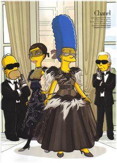 #lol #chanel #karl #simpsons
