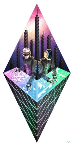 Daft Punk by Artem Bizyaev, via Behance