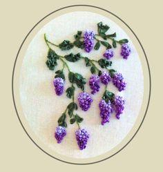 Wisteria, Ribbon Embroidery