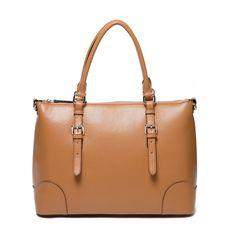 Aurora Leather Tote Handbag - Brown