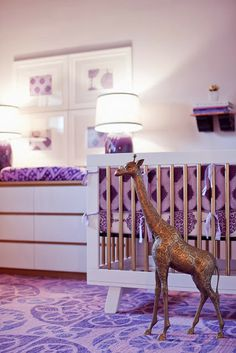 Lovely lilac nursery with Babyletto Hudson 3-in-1 Convertible Crib