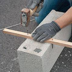 Construction d'un muret en parpaing