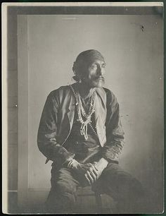 Hostin-Nez, Head Counsilor, in Native Dress Inside Room 1911 - National Anthropological Archives