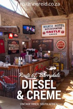 Diesel & Crème vintage diner on Route Barrydale, Karoo, South Africa Sa Tourism, All About Africa, Vintage Diner, Whats For Lunch, Wildlife Safari, Slow Travel, Weekends Away, Africa Travel, Outdoor Cooking