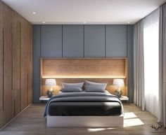 Scandinavian Apartment Interior Design on Behance - Einrichtungsstil Bedroom Closet Design, Bedroom Furniture Design, Modern Bedroom Design, Home Room Design, Master Bedroom Design, Home Decor Bedroom, Bedroom Wardrobe, Bedroom Ideas, Master Suite