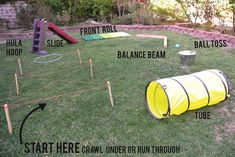 Cheap Outdoor Games For Kids Obstacle Course Ideas